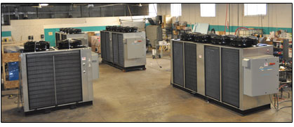 Coolant Chillers : One of our large Build-Out Bays